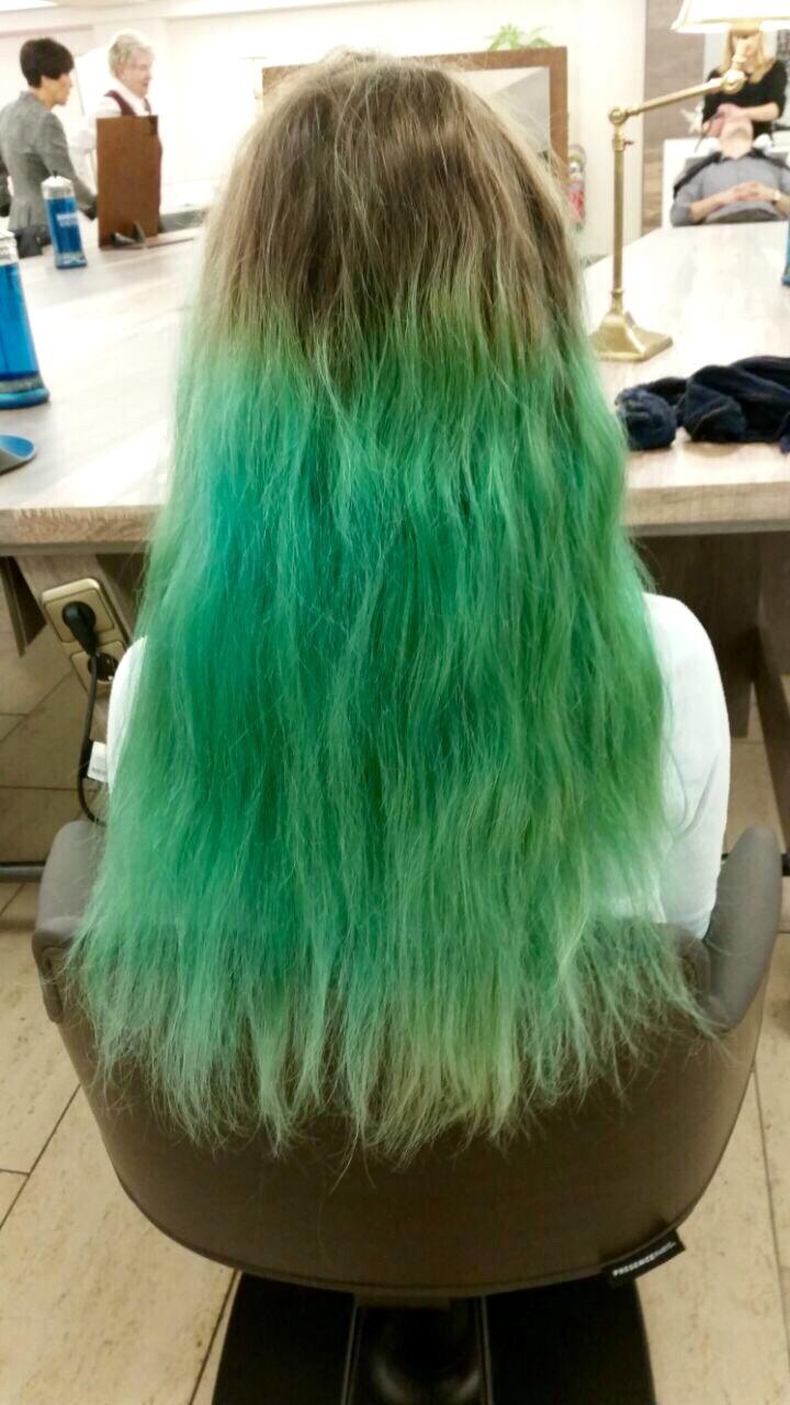 Vorher Nachher Coloration Haarfarbe Langhaar Dylus Frankfurt Farbspezialist