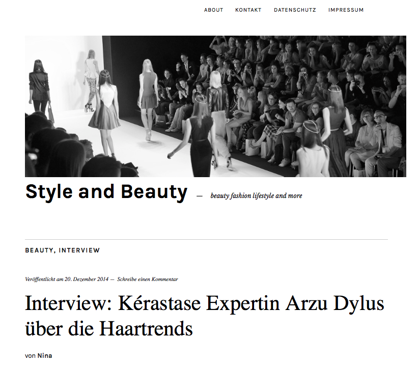 Interview für Style and Beauty.com